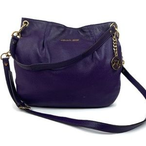 Michael Kors Purple Bag with Gold Chain Hardware